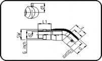 E-Adaptor Elbow 45° - Brass - Male Thread