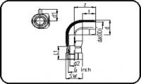 E-Adaptor Elbow 90° - Brass - Female Thread