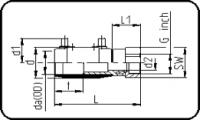 E-Adapter Socket - Brass - Female