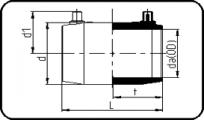 E-Coupler - 10 Bar / Gas 6 Bar - PE100 RC Black